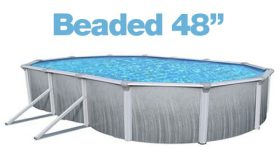 Above Ground Oval 12 x 28 Ft. Beaded 48″ Liner