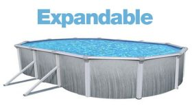 Above Ground Oval 12 x 28 Ft. Expandable Liner