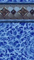 Blue Bayview inground pool liner pattern in 20 or 30mil