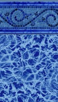 Siesta Wave Blue inground pool liner pattern in 20 or 30mil